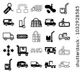 moving icons. set of 25... | Shutterstock .eps vector #1032928585