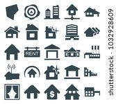 real icons. set of 25 editable... | Shutterstock .eps vector #1032928609
