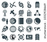 global icons. set of 25... | Shutterstock .eps vector #1032928669