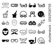 glasses icons. set of 25... | Shutterstock .eps vector #1032928735