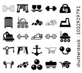 heavy icons. set of 25 editable ... | Shutterstock .eps vector #1032929791