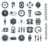 dial icons. set of 25 editable... | Shutterstock .eps vector #1032929959