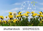 daylight saving time. dst. wall ... | Shutterstock . vector #1032932221