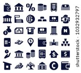 bank icons. set of 36 editable... | Shutterstock .eps vector #1032932797
