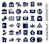 bank icons. set of 36 editable... | Shutterstock .eps vector #1032932797