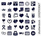 day icons. set of 36 editable... | Shutterstock .eps vector #1032933067