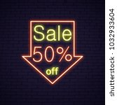 Big Sale Fifty Percent Neon...