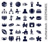 team icons. set of 36 editable... | Shutterstock .eps vector #1032936601