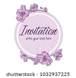 vector hand drawn romantic...   Shutterstock .eps vector #1032937225