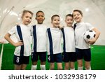 team of young successful... | Shutterstock . vector #1032938179