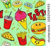 cute kids food pattern for... | Shutterstock .eps vector #1032939955