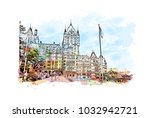 quebec  canadian province in... | Shutterstock .eps vector #1032942721