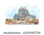quebec  canadian province in... | Shutterstock .eps vector #1032942724