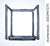 modern double pvc sash on light ...   Shutterstock .eps vector #1032947275