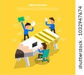 flat design concept brainstorm...
