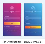 sign in and sign up form page.... | Shutterstock .eps vector #1032949681