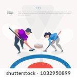 doping scandal curling sport....   Shutterstock .eps vector #1032950899