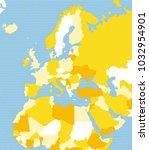 political map of europe  africa ... | Shutterstock .eps vector #1032954901