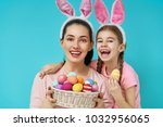 happy holiday  mother and her... | Shutterstock . vector #1032956065