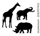 africa animals icon  | Shutterstock .eps vector #1032957421