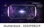 radar screen. elements for hud... | Shutterstock .eps vector #1032958219