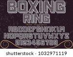 vintage font typeface...   Shutterstock .eps vector #1032971119