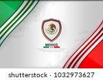 mexico flag concept background... | Shutterstock .eps vector #1032973627