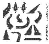 Arrow Road Set. Road Arrows...