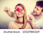 love and happiness concept.... | Shutterstock . vector #1032980269