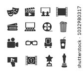 vector image set of cinema... | Shutterstock .eps vector #1032980317