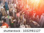 aerial view of china economy... | Shutterstock . vector #1032981127
