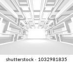 white architecture construction ... | Shutterstock . vector #1032981835