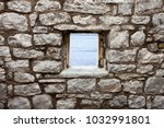 old wall with window seaview | Shutterstock . vector #1032991801