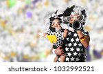 father in a wig and the son of... | Shutterstock . vector #1032992521