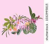 summer time vector banner...   Shutterstock .eps vector #1032995815