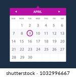 calendar widget. ui interface.