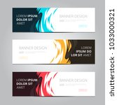 vector abstract design banner... | Shutterstock .eps vector #1033000321