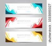 vector abstract design banner... | Shutterstock .eps vector #1033000327