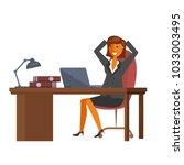 business concept. cartoon flat... | Shutterstock . vector #1033003495