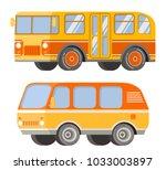 city passenger public transport.... | Shutterstock .eps vector #1033003897