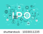 initial public offering or... | Shutterstock .eps vector #1033011235