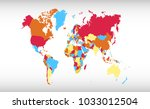 color world map vector | Shutterstock .eps vector #1033012504