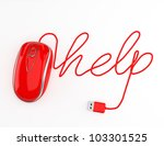 Computer Help  Red Mouse With...