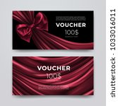 gift voucher design template.... | Shutterstock .eps vector #1033016011