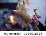 suckling pig roast at a... | Shutterstock . vector #1033018915