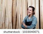 portrait of an adult female...   Shutterstock . vector #1033040071