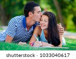 young in love couple with in... | Shutterstock . vector #1033040617