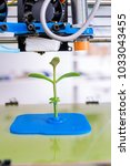 young plant growing.3d printer... | Shutterstock . vector #1033043455