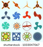 fans and propellers vector... | Shutterstock .eps vector #1033047067