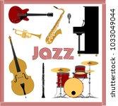 Jazz Music Set Vector...